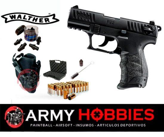 Pistola de fogueo Walther P 22