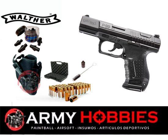 Pistola de fogueo Walther p99